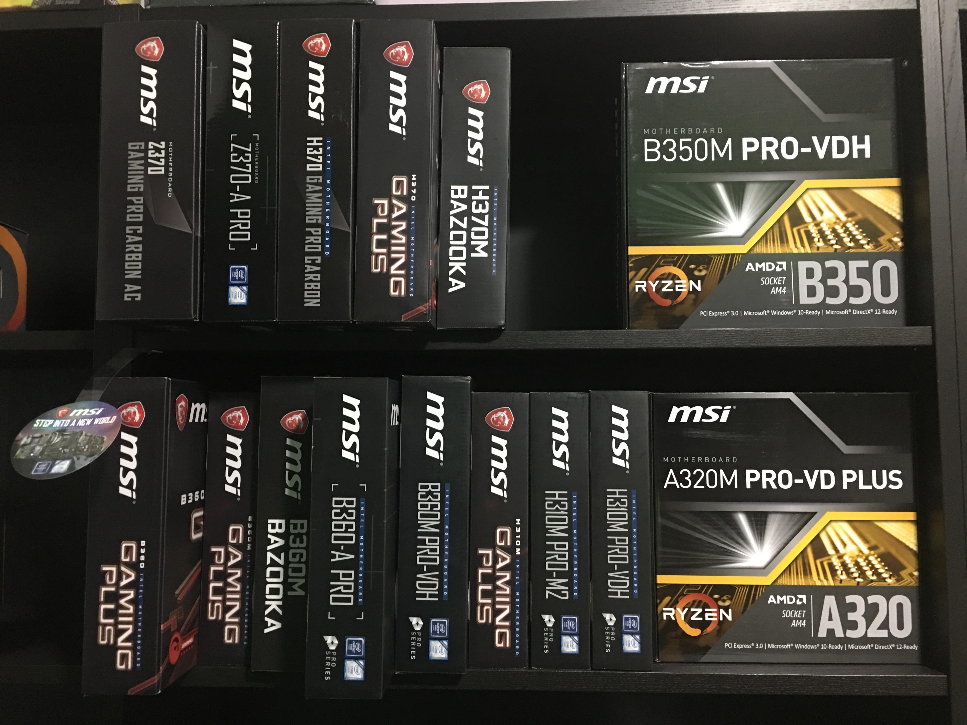 Finalmente disponibili le nuovissime schede madri Intel con chipset H310, B360 e H370