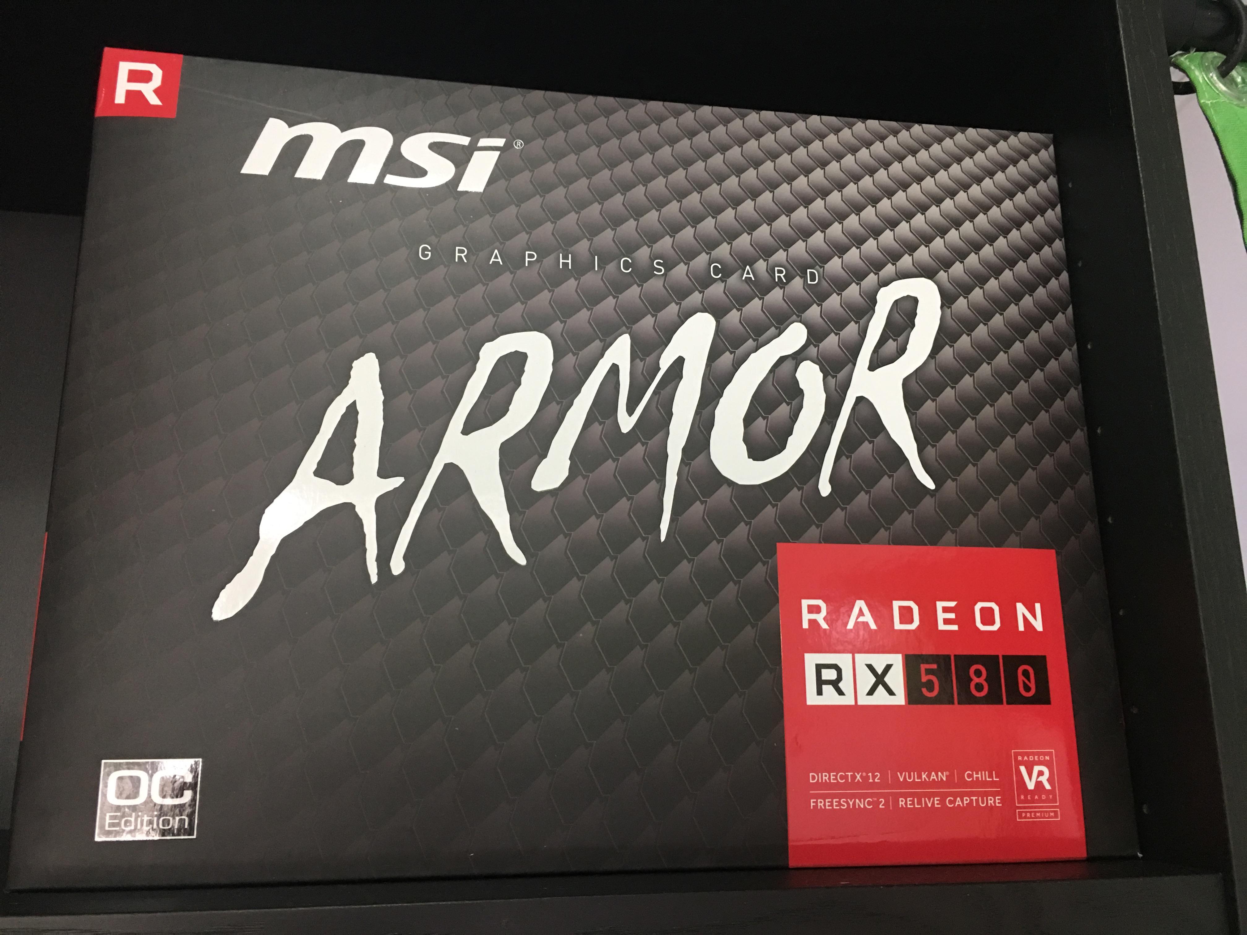 MSI VGA RADEON RX 580 ARMOR 8G OC